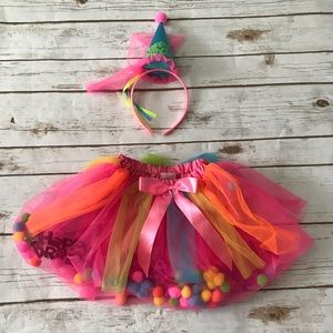 Other - NEW Happy Birthday Tutu and Hat Pink costume